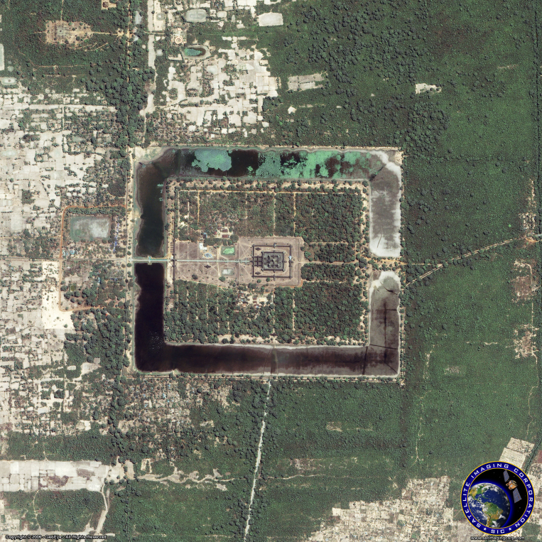 IKONOS Satellite Image of Angkor Wat