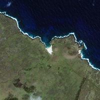 Satellite Image - Easter Island, Chile