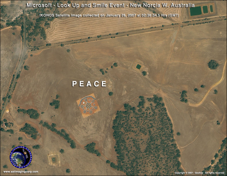 IKONOS Satellite Image of New Norcia, Australia
