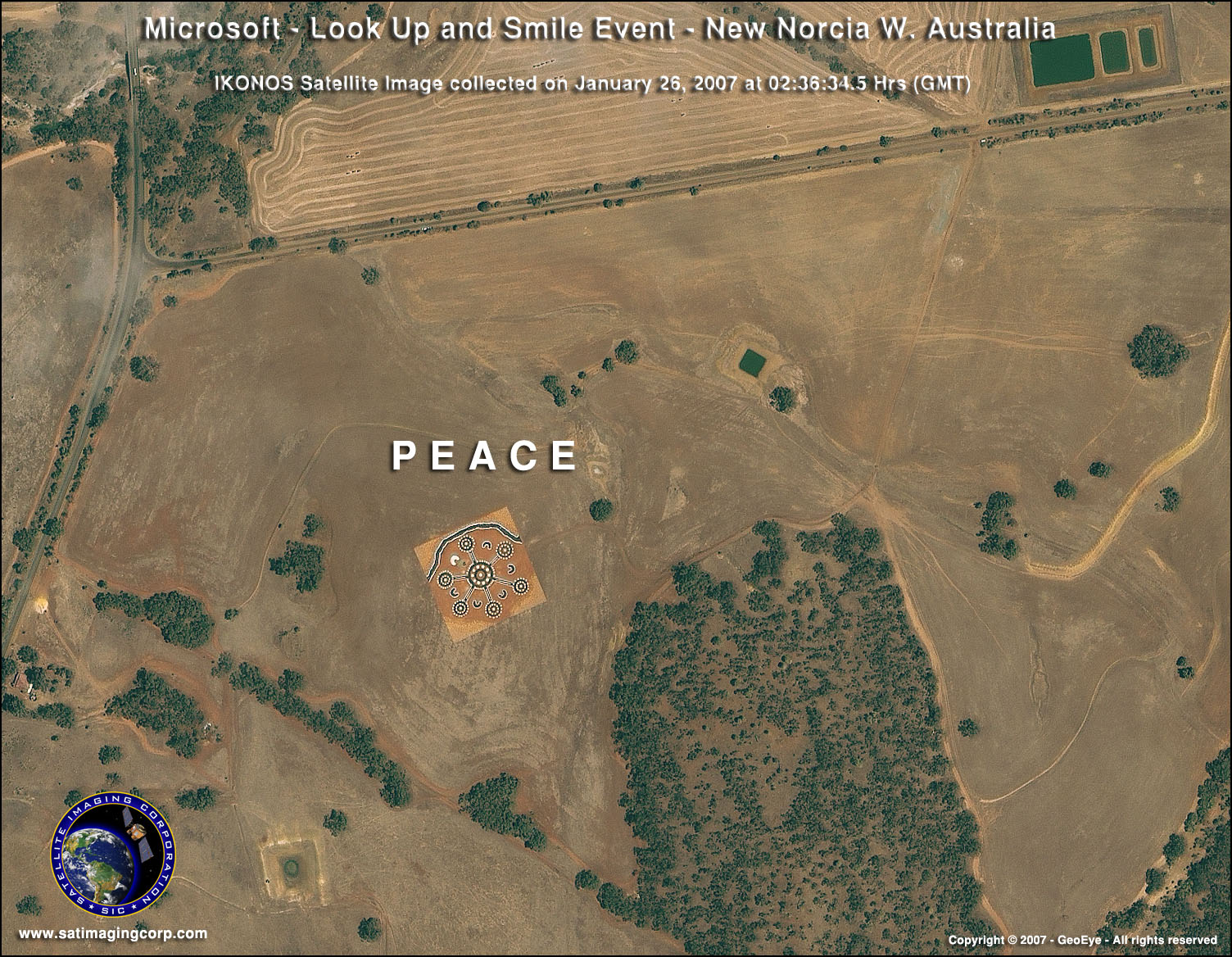 Ikonos Satellite Image New Norcia Australia Satellite