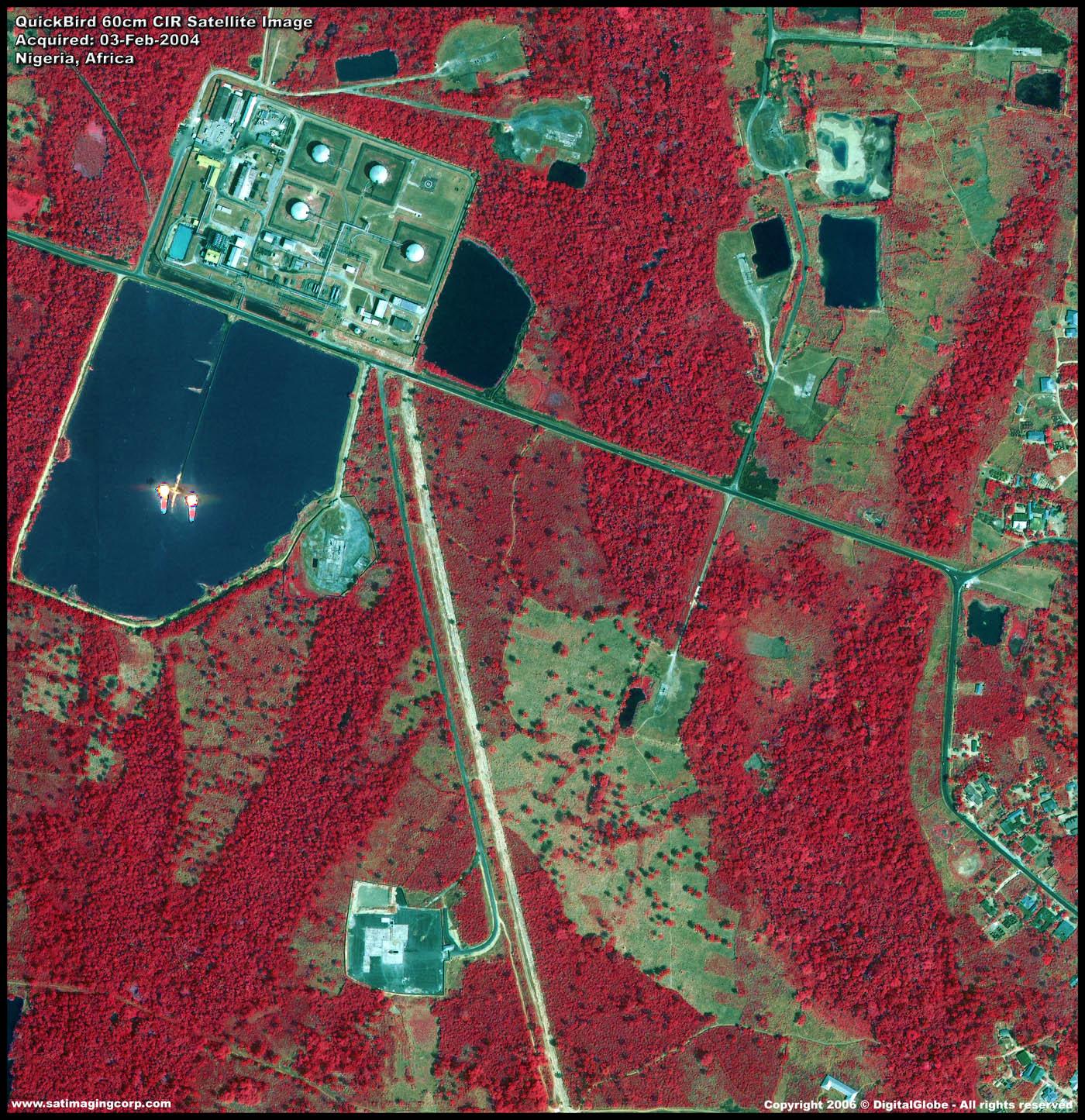 Quickbird Near Infrared Satellite Image Nigeria
