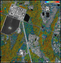 Satellite image of a Nigerian oil production facility - vegetation index image (NDVI)