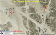 Satellite image of oil wells in Libya - used for well coordinate database quality control
