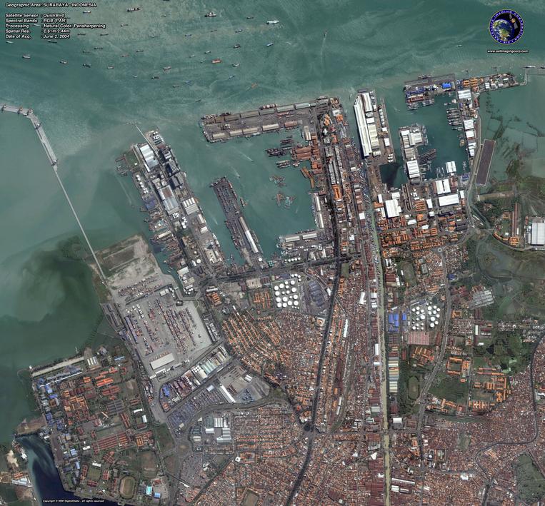 QuickBird Satellite Image of Surabaya
