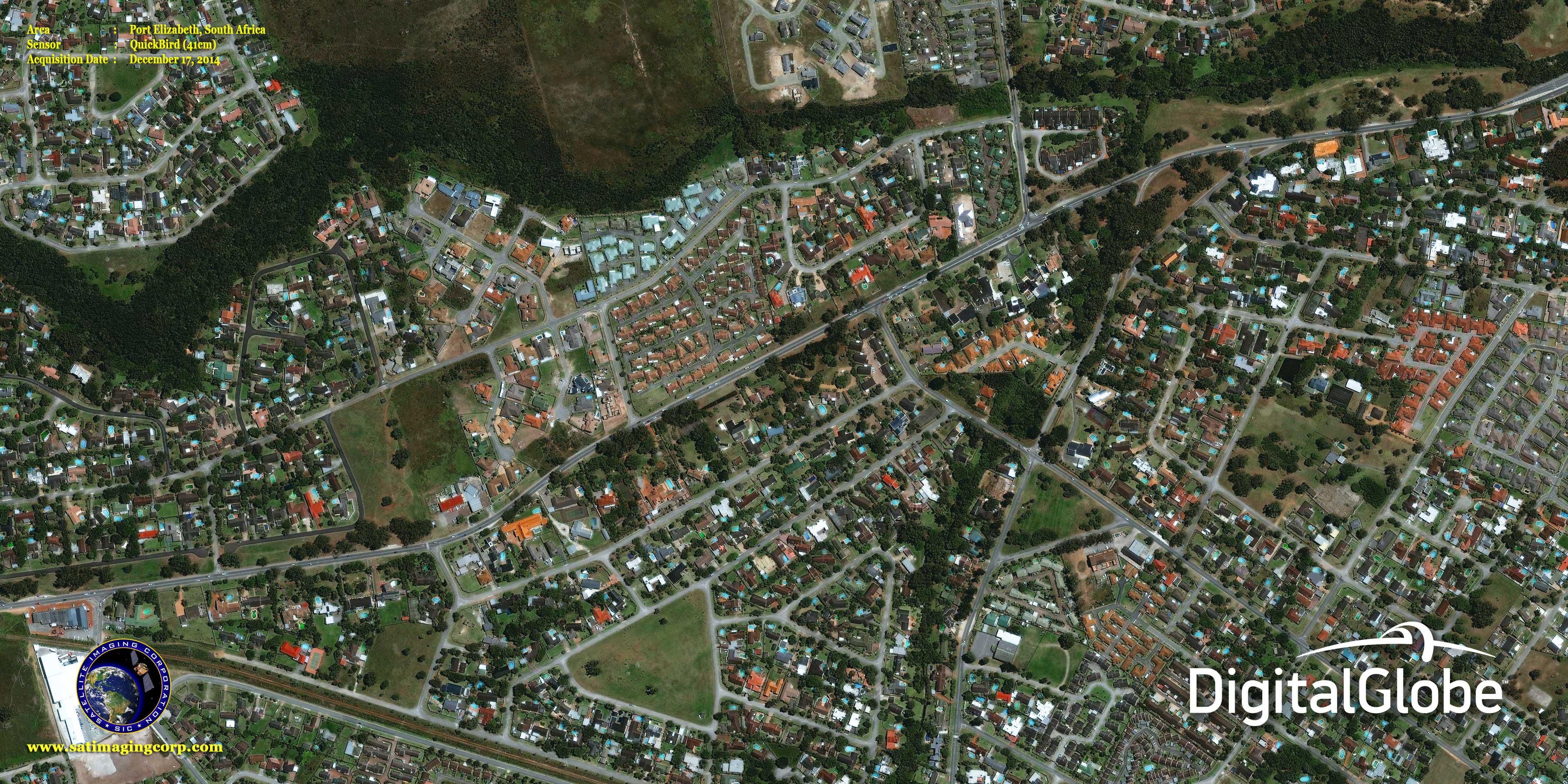 QuickBird Satellite Image Port Elizabeth Satellite Imaging Corp - Satelite image