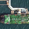 WorldView-4 Satellite Image of Oil Tankers Sebarok Island, Singapore