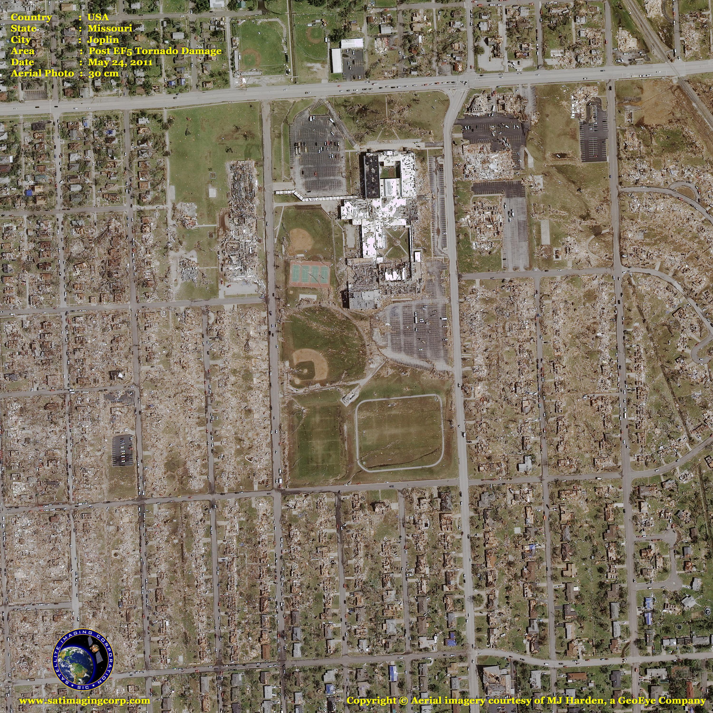 Digital Aerial Photography Of Joplin Tornado Satellite