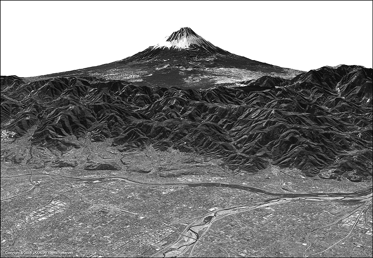 ALOS Satellite Image of Mount Fuji