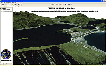 3D ArcScene of Dutch Harbor