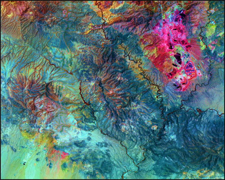 Satellite Image - Morenci Mine, Arizona