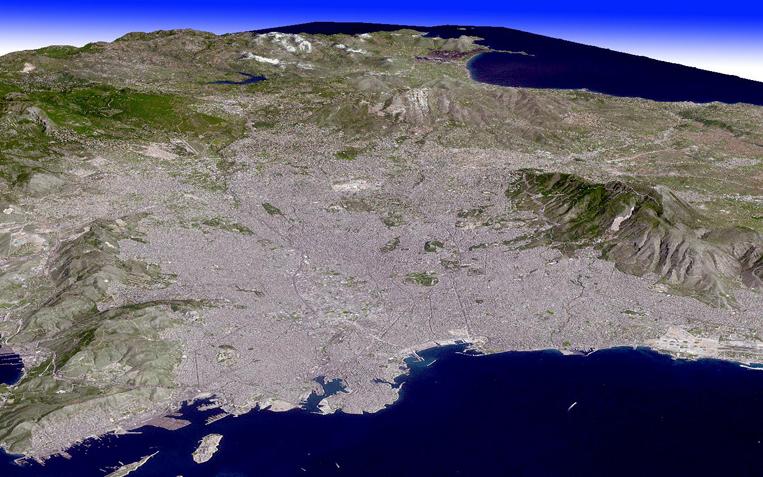 Satellite Image Athens - ASTER