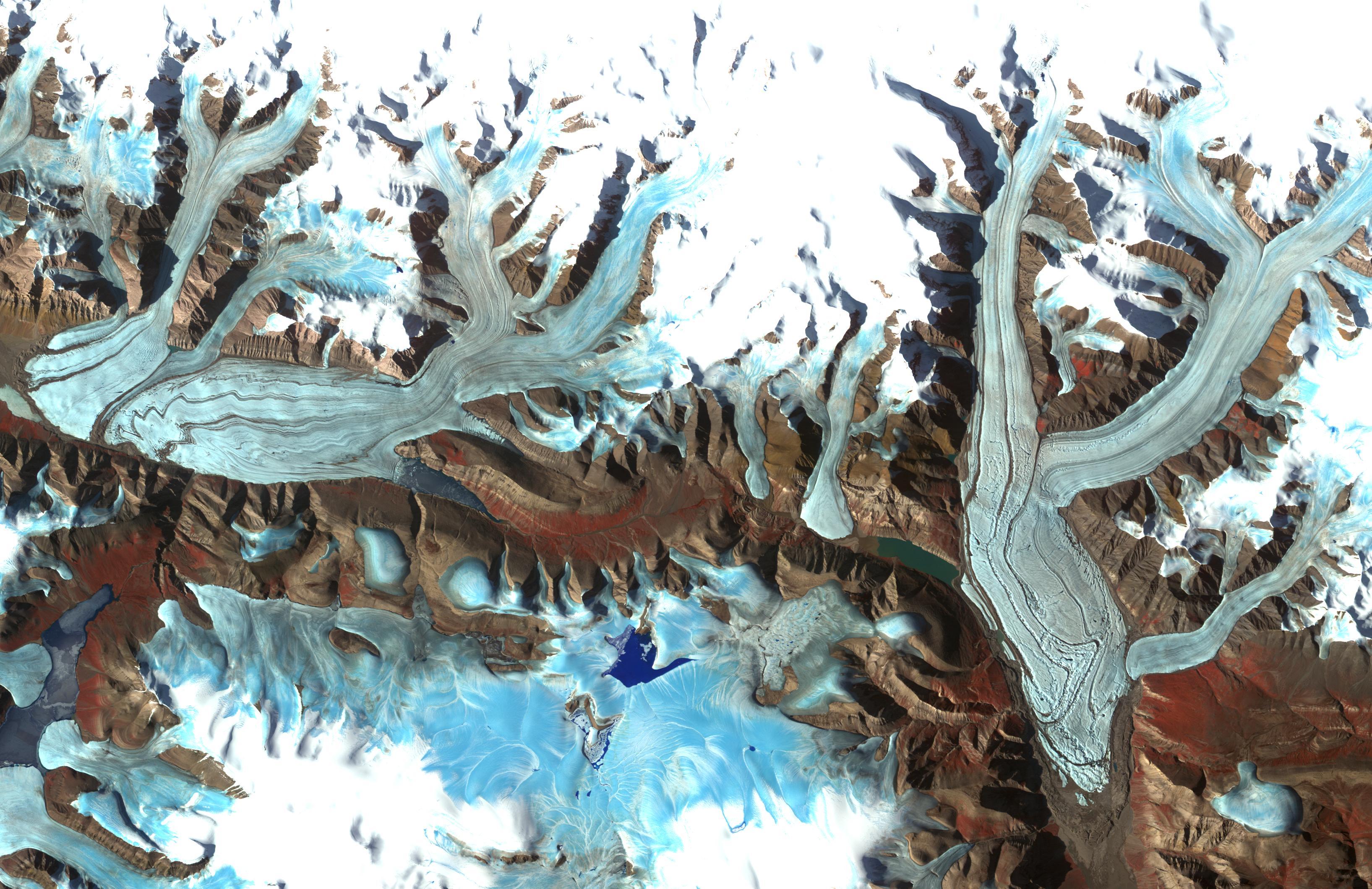 Satellite Image Chapman Glacier Aster Satellite