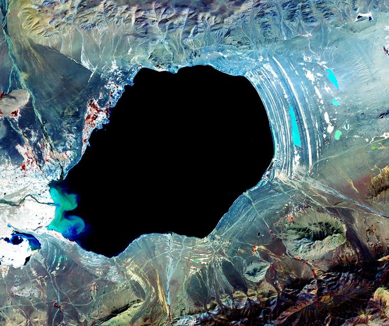 Satellite Image Dagze Co - ASTER