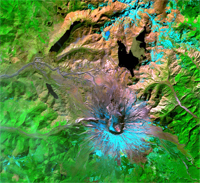 ASTER Satellite Image of Mount St. Helens