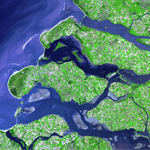 ASTER Satellite Image of Dikes in The Netherlands