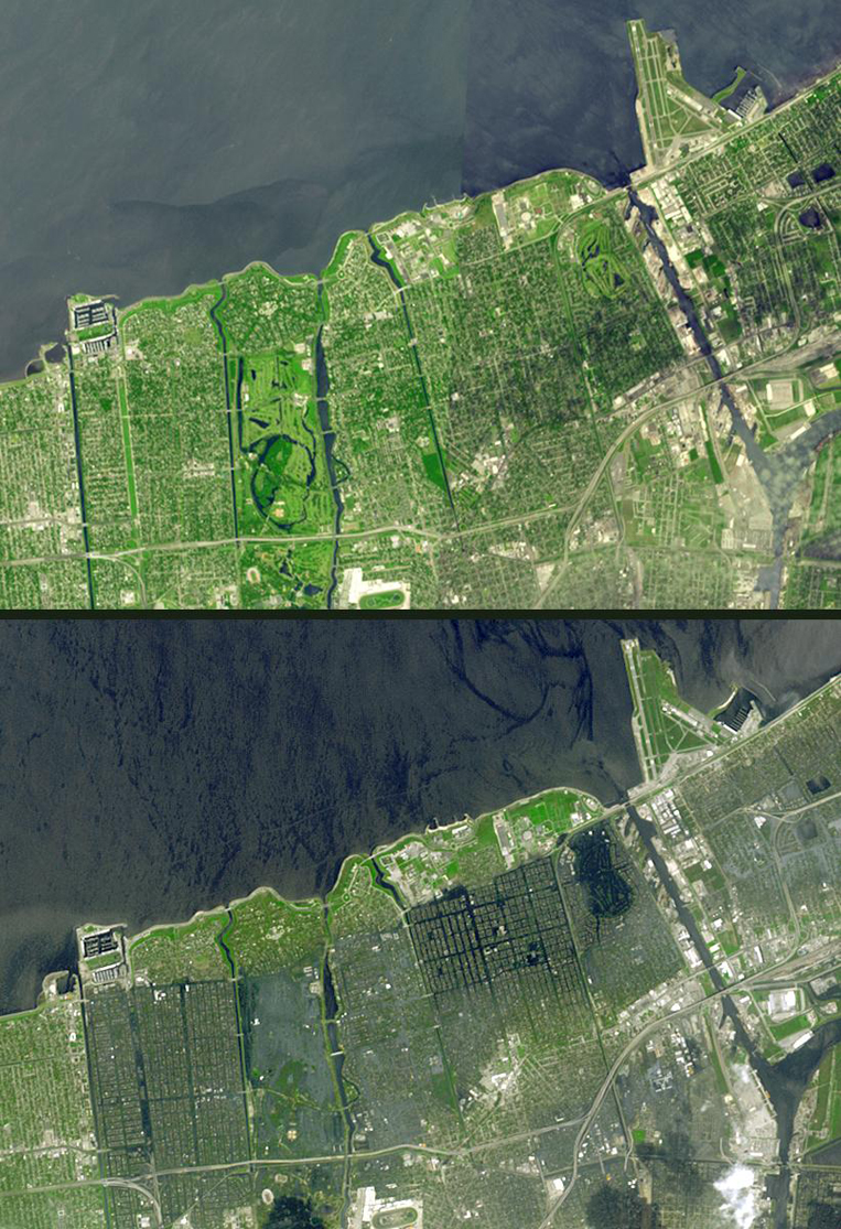 Satellite Images New Orleans (Hurricane Katrina) - ASTER