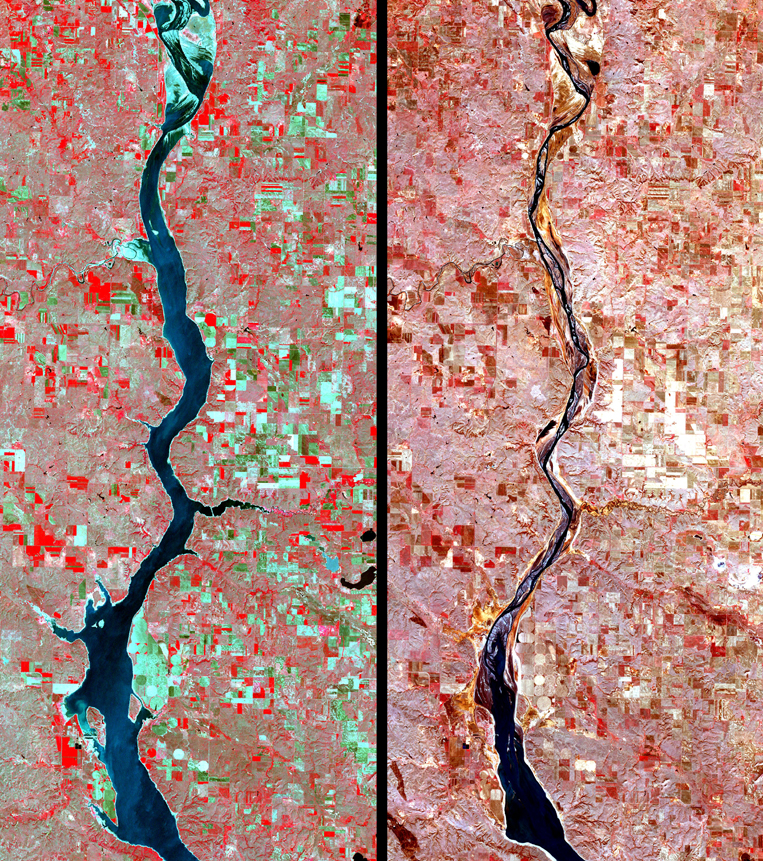 Satellite Images Oahe - ASTER