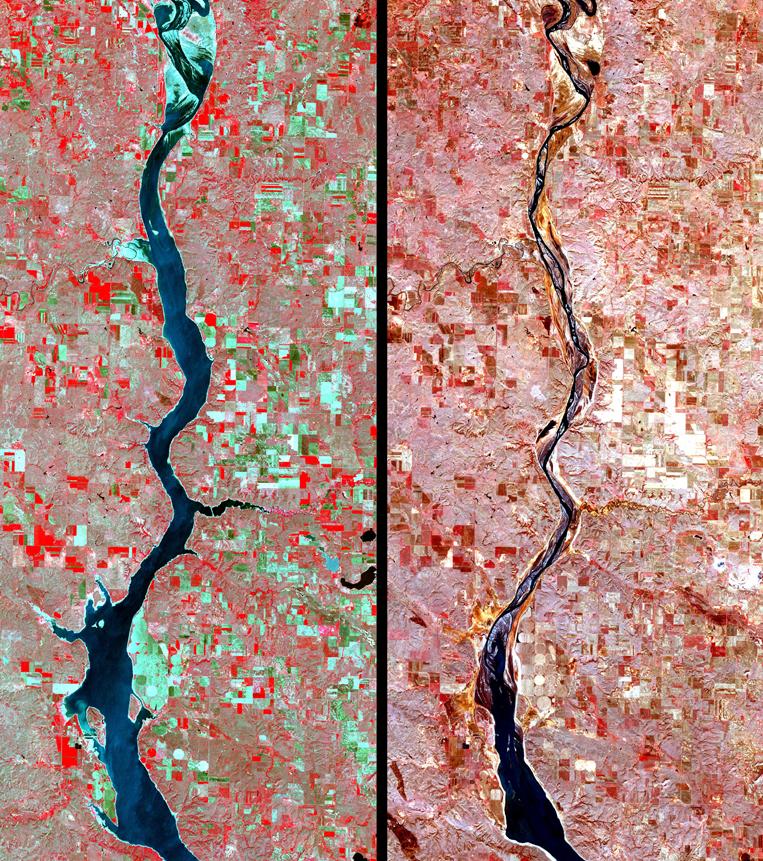 Satellite Images Oahe - ASTER