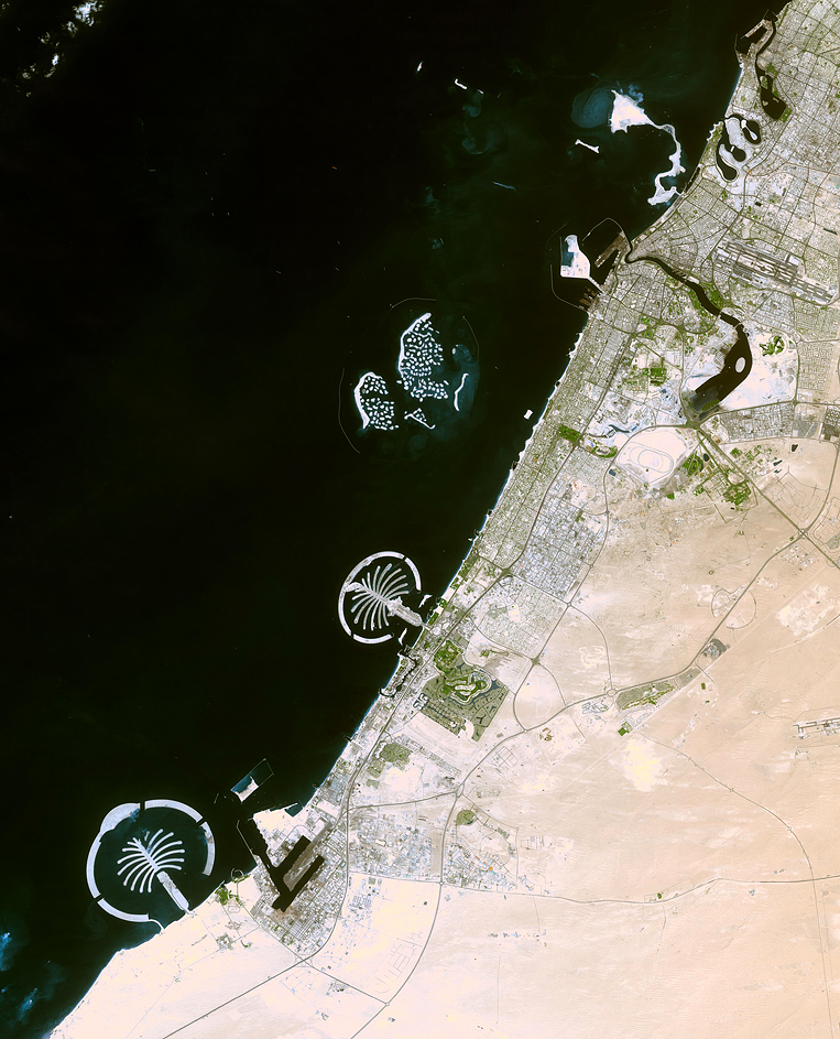 ASTER Satellite Image of the Palm Islands