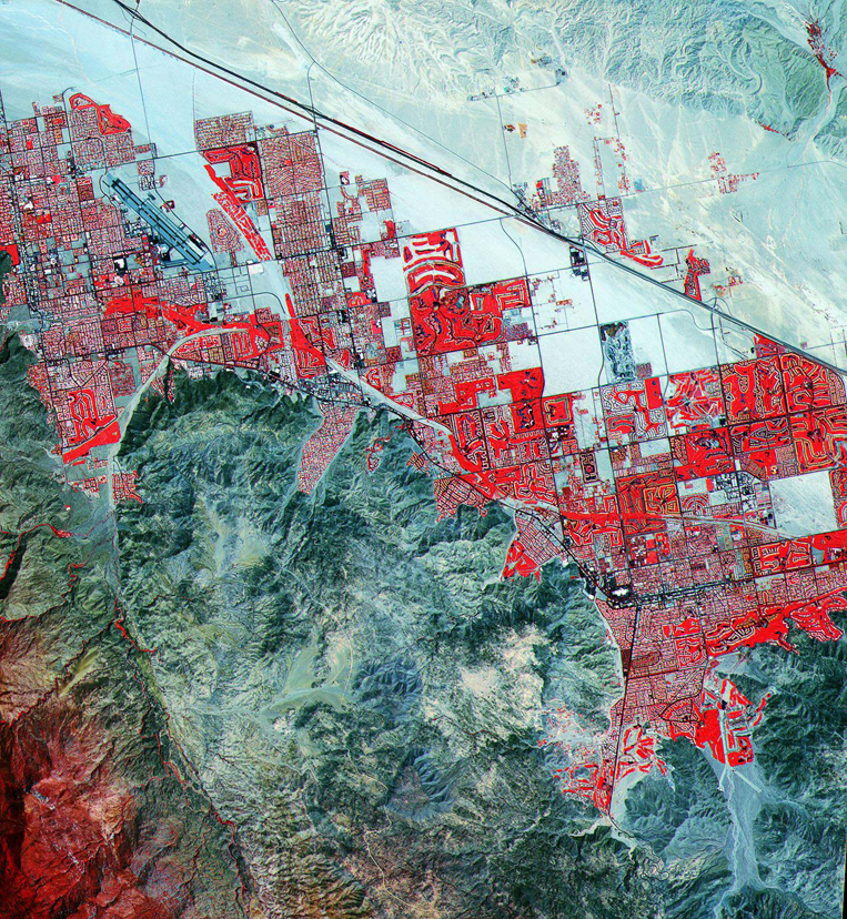 Satellite Images Palm Springs - ASTER