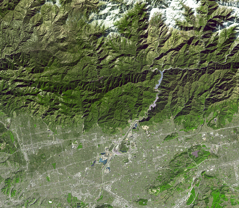 Satellite Image San Gabriel River - ASTER
