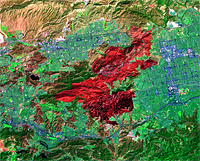 ASTER Satellite Image of Topanga Fire