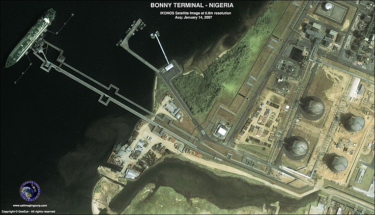 IKONOS Satellite Image of Bonny Terminal in Nigeria