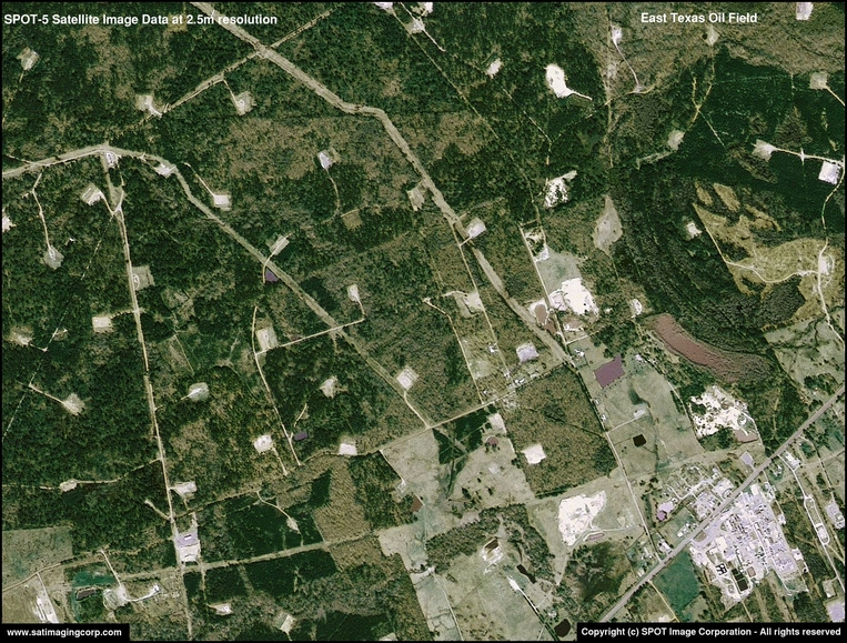SPOT-5 Satellite Image of Texas Oil Field