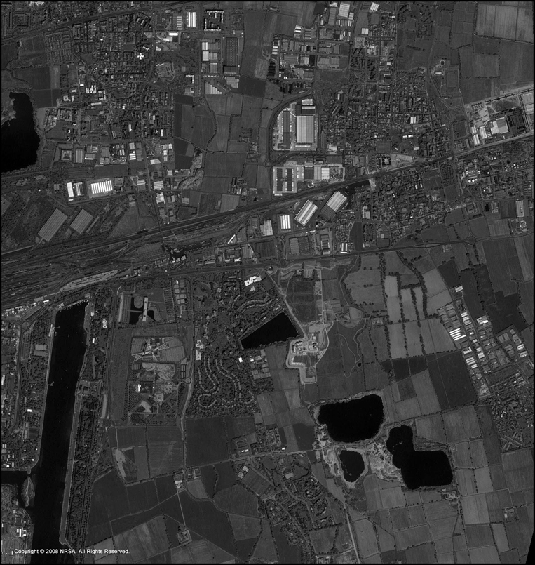 CARTOSAT-1 Satellite Image of Milan, Italy