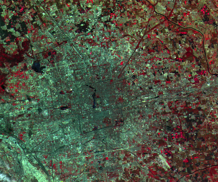 CBERS-2 Satellite Image of Beijing