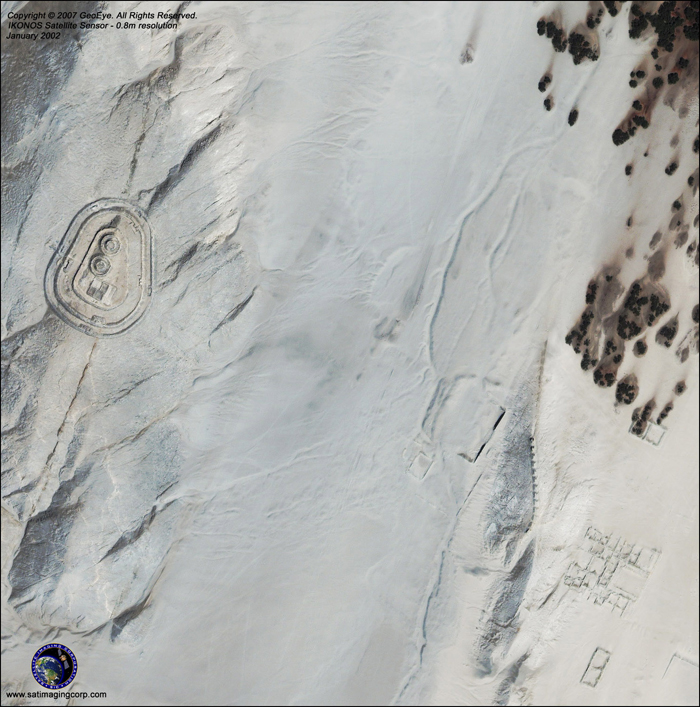 IKONOS Satellite Image of Chankillo, Peru