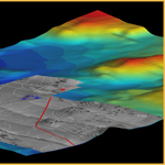 3D DEM Map of Bahia, Brazil Seafloor