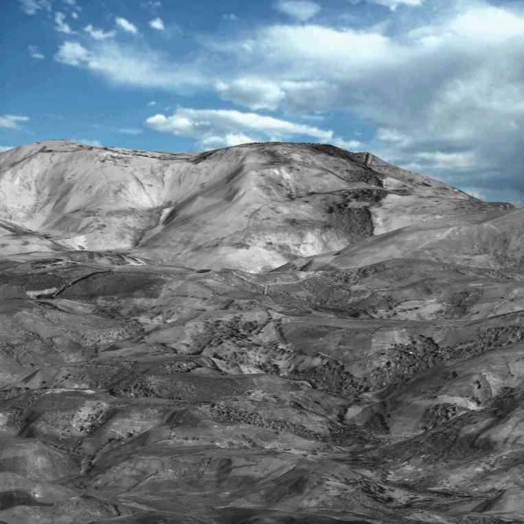 3D DEM Map of Parana, Brazil