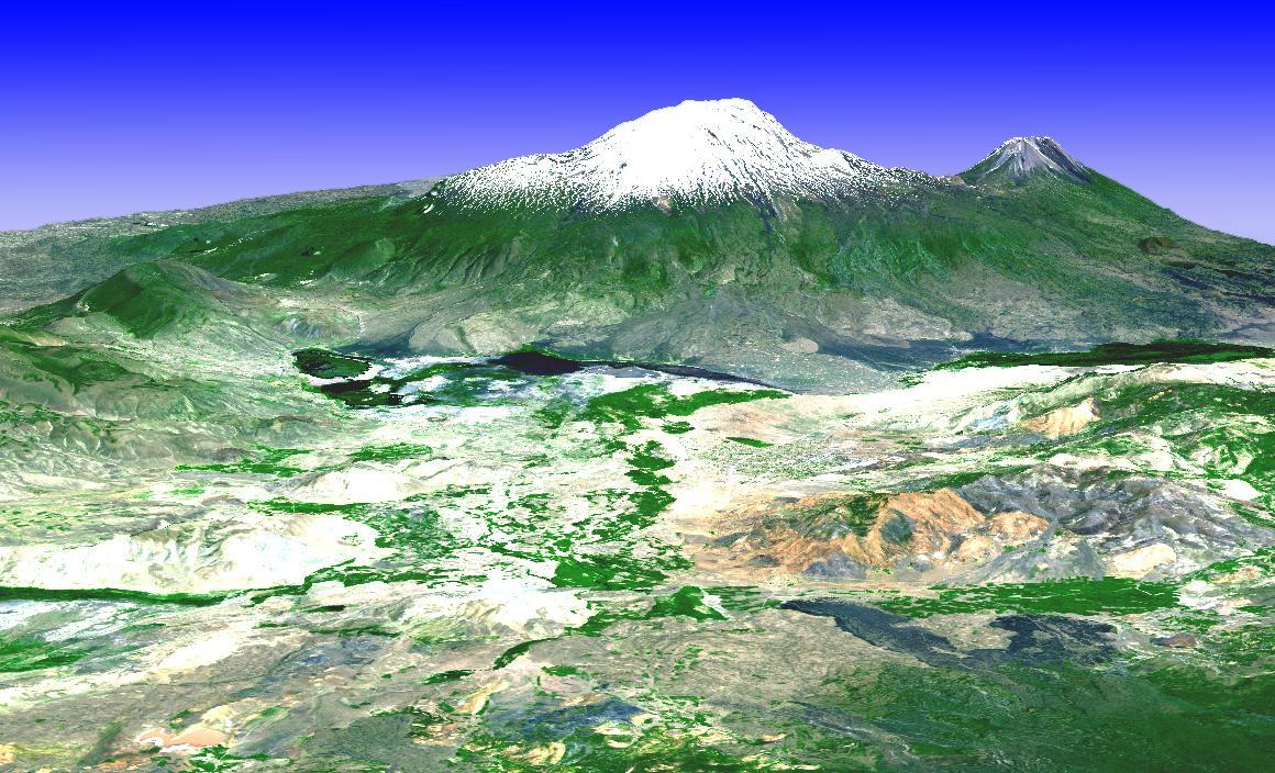 DEM of Mt. Ararat, Turkey   Satellite Imaging Corp
