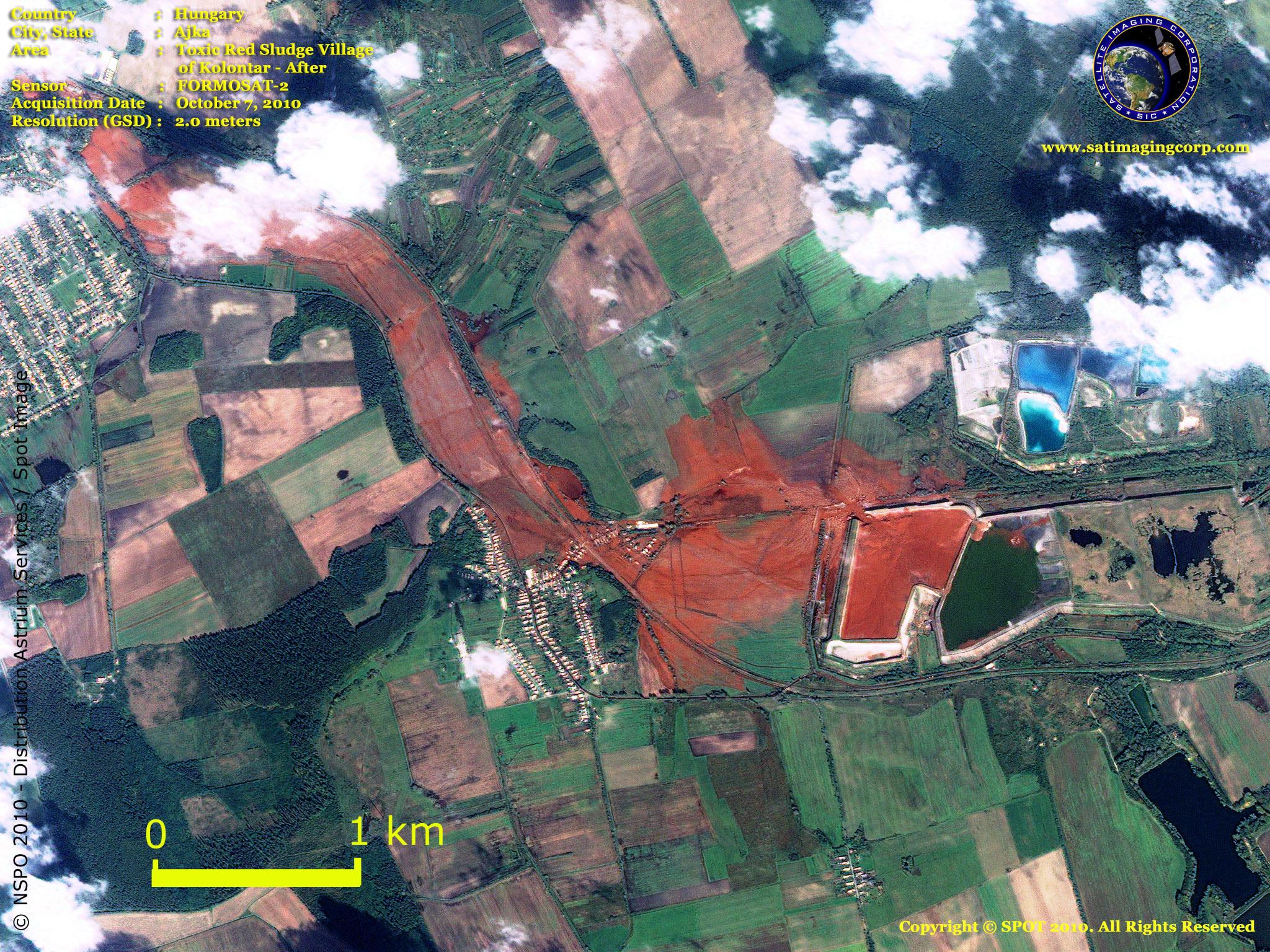 formosat2 satellite image toxic sludge satellite