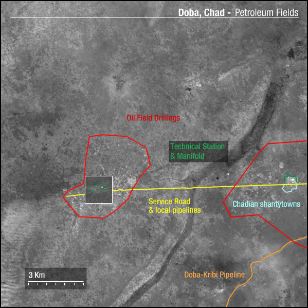 FORMOSAT-2 Satellite Image of Doba Oil Field - Chad