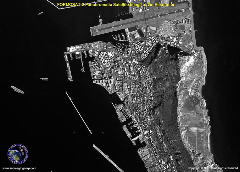 Panchromatic: Satellite Image - Gibraltar