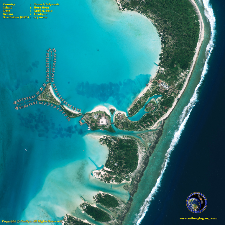 GeoEye-1 Satellite Image of Bora Bora