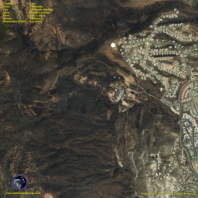 Colorado Images: GeoEye-1 Satellite Image Of The Colorado Wildfires