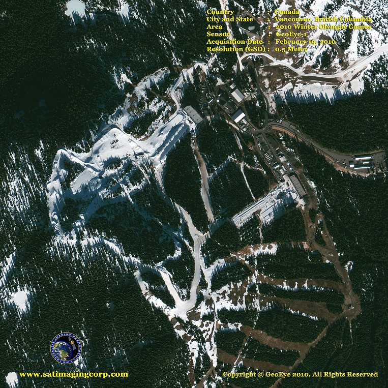 GeoEye-1 Satellite Image of the Winter Olympics in Vancouver
