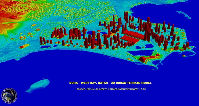 GeoEye-1 Urban Terrain Model (UTM) of Doha, Qatar