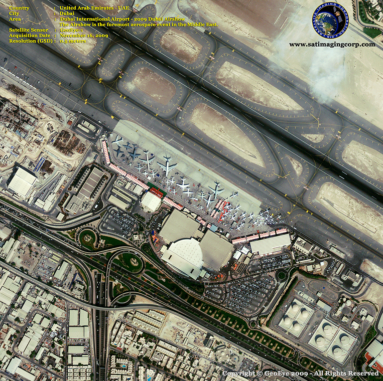 GeoEye-1 Satellite Image of the Dubai Airshow (2009)
