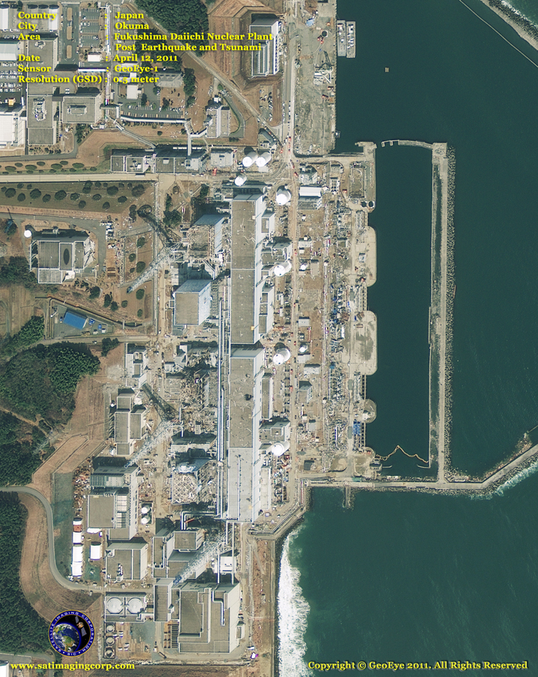 GeoEye-1 Satellite Image of Fukushima Daiichi