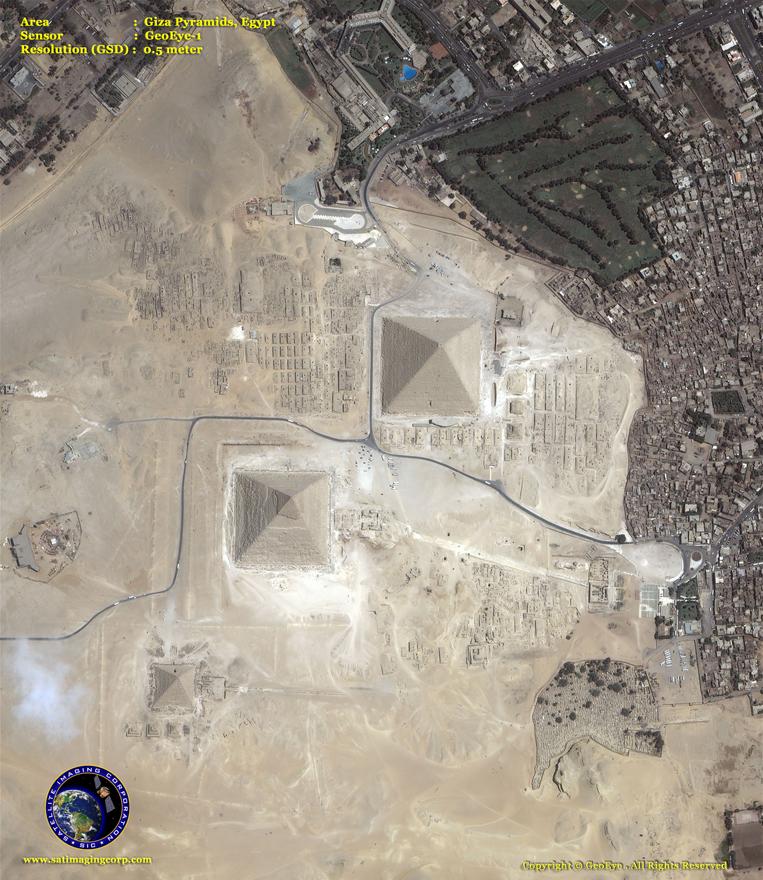 GeoEye-1 Satellite Image - Giza Pyramids - Egypt