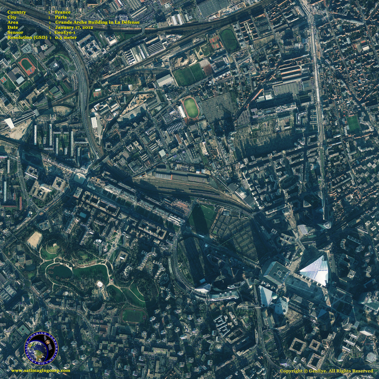 GeoEye-1 Satellite Image of Grande Arche