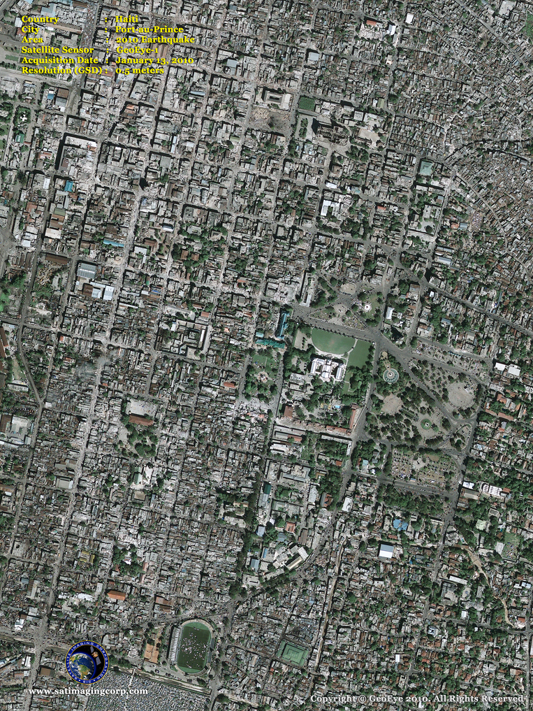 GeoEye-1 Satellite Image of Port-au-Prince, Haiti