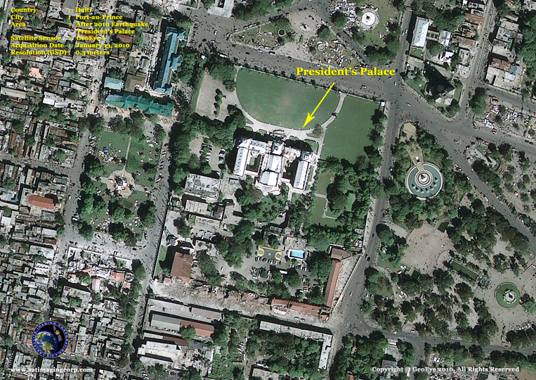 GeoEye-1 Satellite Image of the President's Palace in Port-au-Prince, Haiti