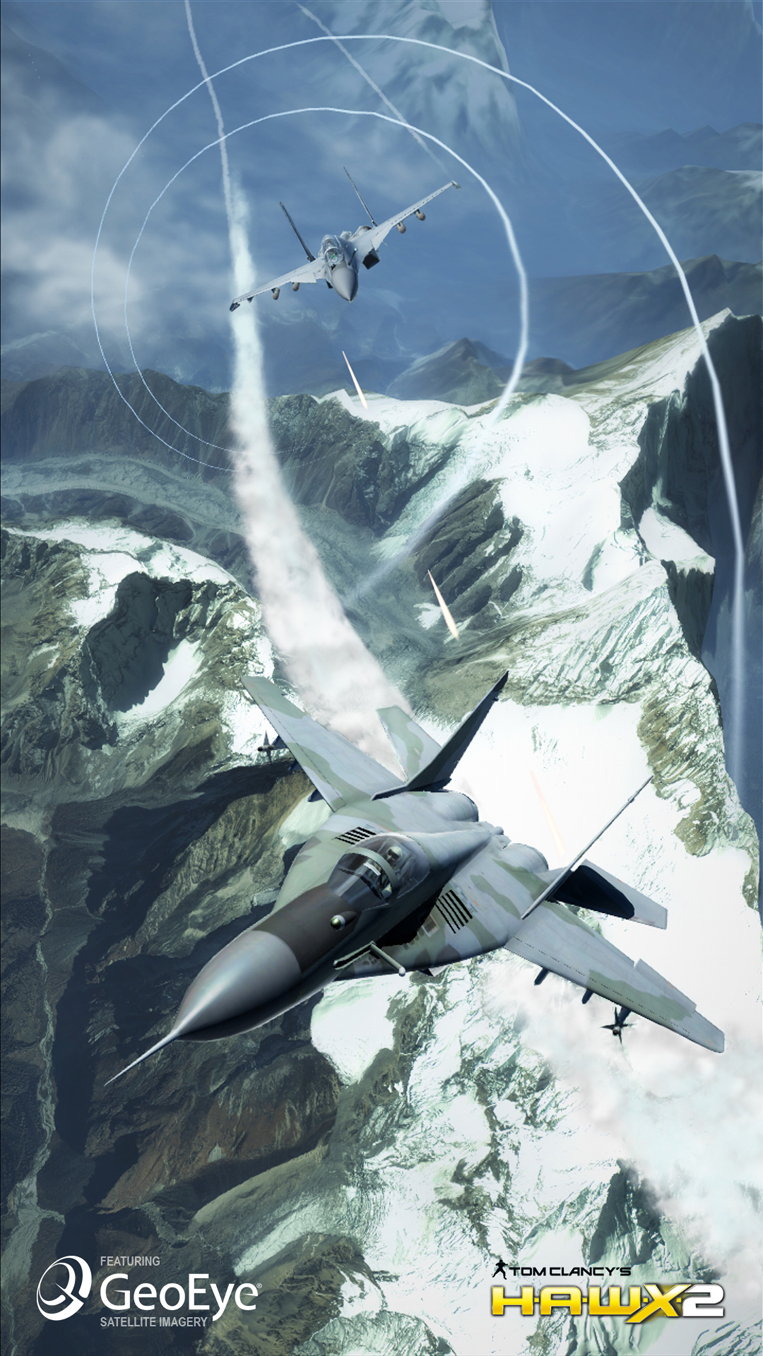 GeoEye-1 Satellite Image - Gaming Screenshot - Tom Clancy's H.A.W.X. 2