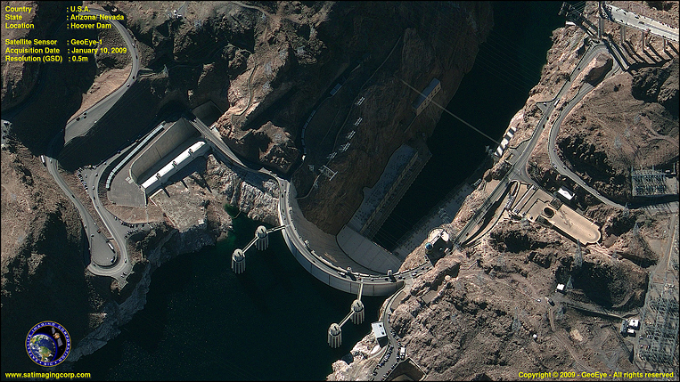 GeoEye-1 Satellite Image of Hoover Dam