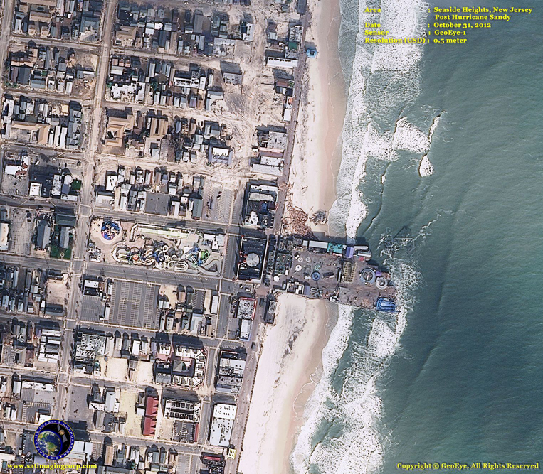 GeoEye-1 Satellite Image of the Hurricane Sandy Damage